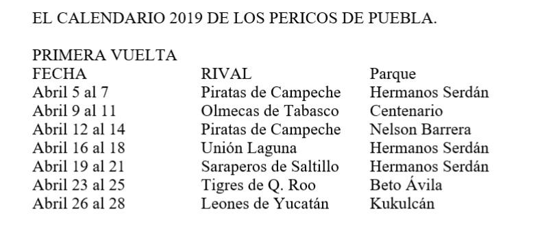 Calendario La Liga 2019.Anuncian Calendario 2019 De La Liga Mexicana De Beisbol Conoce El